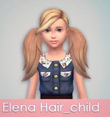 sims 4 kids hair as requested elena hair for kids download just something
