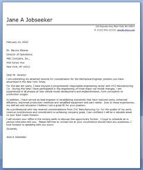 awesome collection of cover letter for mechanical engineer fresher