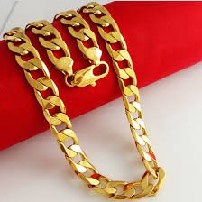 new arrival fashion 24k gp gold plated mens women online shop 1cm wide 60cm 24kgp gold chains large men s 24k