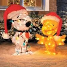 Peanuts Outdoor Christmas Decorations Set Of 3 Lighted Christmas Santa Polar Bears Display Outdoor