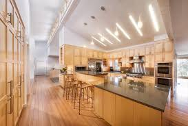 Lights For Vaulted Ceiling Los Altos Residence Contemporary Kitchen San Francisco By