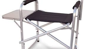 Folding Directors Chair With Side Table with Top Tall Director Chair Seat Extra Portable Seating Folding