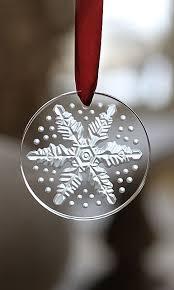 lalique annual 2013 snowflake ornament clear 2013