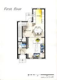 real estate color floor plan 9 on behance watercolor pinterest
