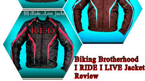 bike riding jackets review of i ride i live riding jacket from biking brotherhood with