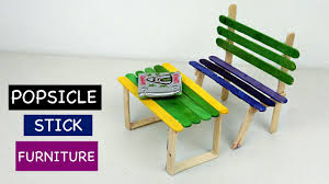 diy popsicle stick furniture 2 bench and table easy crafts