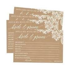 advice to and groom cards 50 4x6 kraft rustic wedding advice well wishes for the and