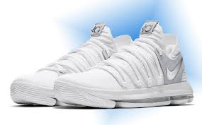 2017 nike kd 10 still kd white chrome platinum for sale
