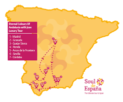 Andalucia Spain Map by Eternal Colours Of Andalusia With Jose Ultimate Tour Soul De Espana