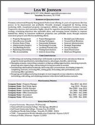 Property Management Resume Product Management And Marketing Executive Resume Example Job