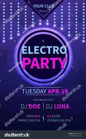 vector electro party flyer template abstract stock vector