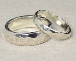 silver wedding bands silver wedding band etsy