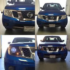 nissan frontier halo headlights beforeandafter shots of the nissan frontier sv fronti u2026 flickr