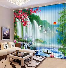 Chinese Home Decor by Online Get Cheap Chinese Print Curtains Aliexpress Com Alibaba