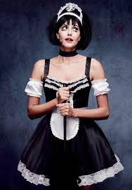 Maid Halloween Costume Flirty French Maid Halloween Costume Features Black Satin