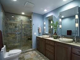 Bathroom Recessed Lights Recessed Lighting Bathroom Vanity With Sliding Glass Door And