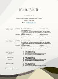 Printable Resume Templates Free The 25 Best Free Printable Resume Ideas On Pinterest Resume