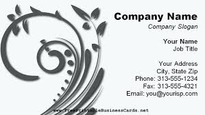 charming free blank business card templates for microsoft word