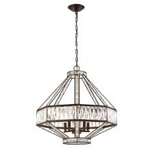 Home Depot Bronze Chandelier Eurofase Bellezza Collection 5 Light Bronze Chandelier With