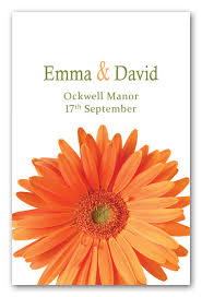 wedding invitations kent orange gerbera fb22 contemporary wedding invitations and