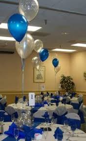 easy blue and silver centerpieces blue and black centerpieces