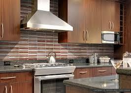 modern kitchen with brown cabinets backsplash mosaics xclusive tile staten island ny
