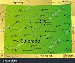 Map Of Colorado Springs by Detailed Map Colorado State Usa Stock Illustration 37908622