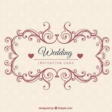 Download Invitation Card Design Ornamental Wedding Invitation Card Vector Premium Download