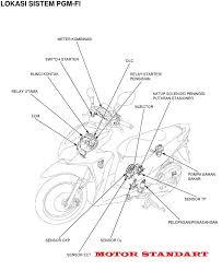 motor standart diagram kelistrikan sistem pgm f1 motor standart