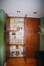 Wooden Kitchen Pantry Cabinet Kitchen Gorgeous Green Wall Paint Color Background With Wooden