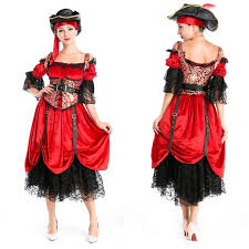Scary Gypsy Halloween Costume Medieval Pirates Caribbean Halloween Costume Polyester Cosplay