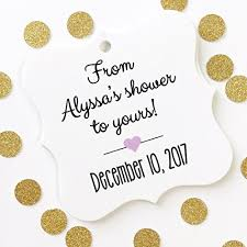 bridal shower favor tags from my shower to yours baby or bridal shower favor
