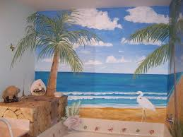 Bathroom Mural Ideas by Beach Themed Bathroom Designs Beach Themed Bathroom Items Beach