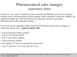Pharmaceutical Sales Resumes Examples by Pharmaceutical Sales Manager Experience Letter 1 638 Jpg Cb U003d1409228099