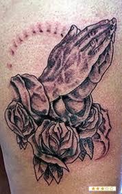 religious praying rosary tattoos