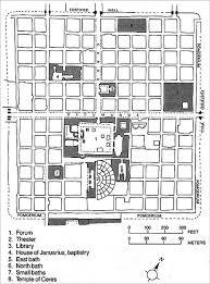 plan of roman castrum at timgad algeria roman pinterest