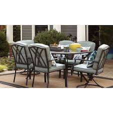 lowes table l set shop garden treasures cascade creek 38 in w x 64 in l rectangle