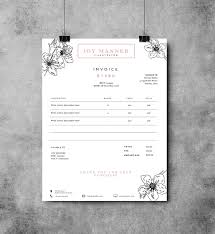 invoice template photography invoice business by studiostrawberry