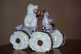 the farmer u0027s wife 4 wheeler diaper cake