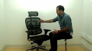 eurotech ergohuman ergonomic mesh office chair with headrest youtube