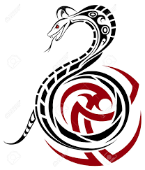 snake cobra in the form of a tribal royalty free cliparts
