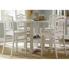 liberty furniture summerhill 5 piece gathering table set in rubbed