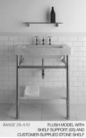 carrara marble console sink pin by craftsman junky on remodeled bathrooms pinterest