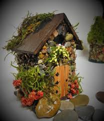 mini stone fairy houses 3 styles available with stained glass