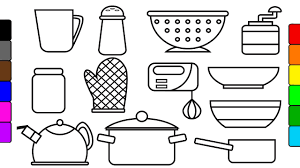 Learn Colors For Kids With Kitchen Tools Coloring Pages Fun Tools Coloring Page