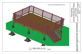 2 level deck plan blueprint free pdf download