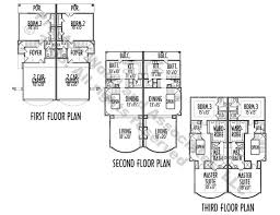 Townhome Floor Plan Designs Townhome Plan Ac7048