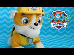 paw patrol talking rubble plush toy english french