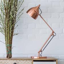 witt copper desk lamp lighting graham and green