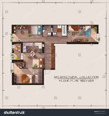 three bedroom apartment floor plans architectural color floor planthree bedrooms apartment stock